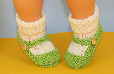 Printed Instructions-Baby One Button Sock & Slipper Booties Knitting Pattern