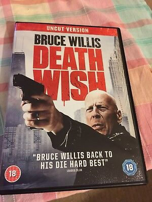 DEATH WISH 2018 Bruce Willis - DVD (ONLY WATCHED ONCE!!!)