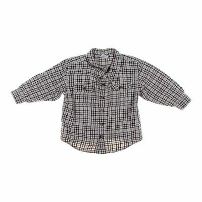 Old Navy Boys Button-up Shirt, size 2/2T,  white,  cotton