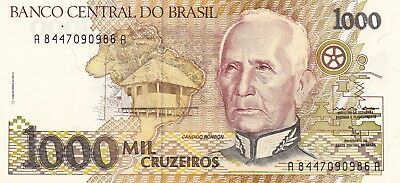 BRAZIL--Banknote--P 231b--1000 Cruzeiros--Uncirculated--LOT OF 5--FREE SHIPPING