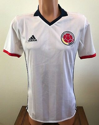 70cf9315e Adidas Soccer Jersey Colombiana Short Sleeve White Men s Size Small S AC2837
