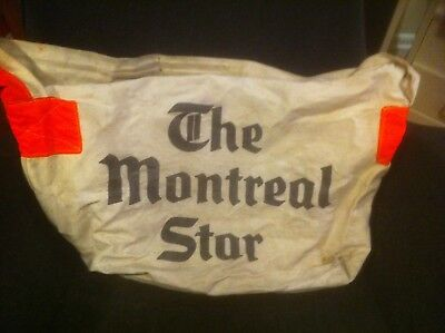 Vintage 1970's The Montreal Star Canvas Newspaper Delivery Bag