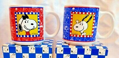 Snoopy Joe Cool Mug Vintage Willitts 1990 NEW in Box Peanuts 40th Anniversary