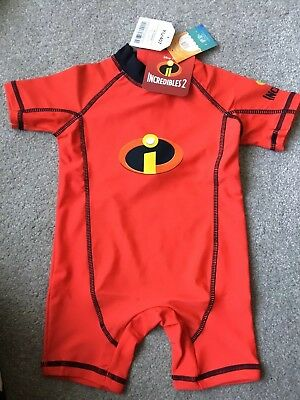 NEXT Invincibles UV Protection Swimsuit Red 9-12 Mths BNWT