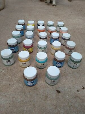 27X 60ml unused pots of Acrylic Ceramic Stains, by Gare.  Assorted colours.