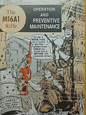 The M16A1 Rifle, comic book, Operation & Maintenance manual 1969 Vietnam AR15 US