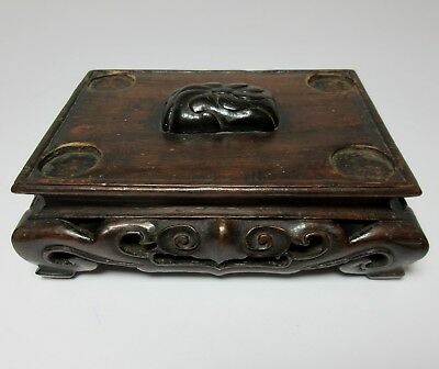 Antique CARVED WOOD CHINESE CENSER VESSEL STAND 19TH CENTURY OR EARLIER