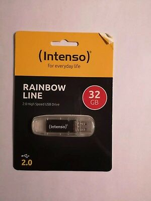 Intenso USB-Stick RAINBOW LINE 2.0 High Speed USB Drive(3502480)32GB Transparent