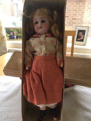 Antique French Doll Mignonnette Marcheuse Orig Box
