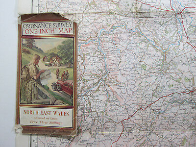1931 OS Ordnance Survey One Inch Popular Edition Special Map North East Wales