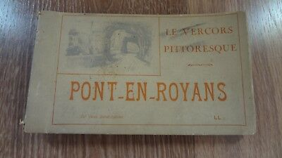 Antique/Vintage Post Card Book! Pont-en-Royans Le Vercors Pittoresque! 20 Cards!