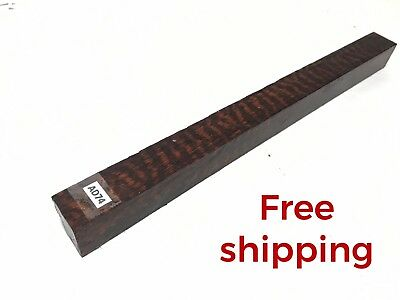 Snakewood Knife Exotic wood Turning Pool Cue Pen Bowl Game Craft Blank Burl AD74