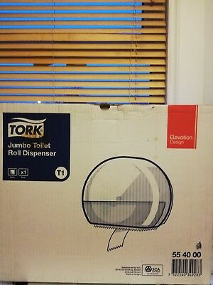 Tork  T1 Jumbo Toilet Roll Bathroom Industrial Rest Room Dispenser 554000