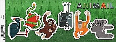 GB Stamps 2016 'Animail' MS3837 (with barcode) - U/M