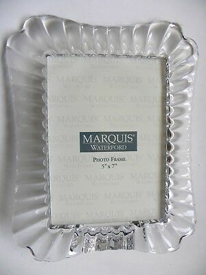 Marquis Waterford Picture Frame Crystal 7 X 9 Holds 5x7 Photo