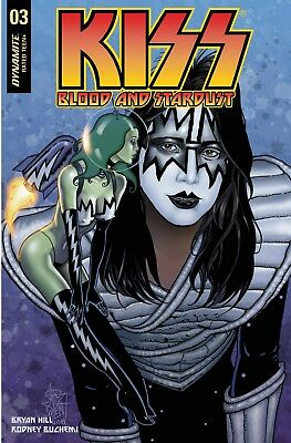 KISS BLOOD AND STARDUST #3 JIM BALENT JETPACK/FORBIDDEN PLANET VARIANT Dynamite