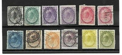 Canada - 1898-1902 - Complete set of 11 stamps - (9 used, 2 mint) + 1 extra