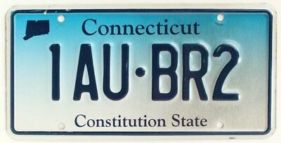 """Connecticut Blue Fade """"Constitution State"""" License Plate, 1AU-BR2, Nice One!"""