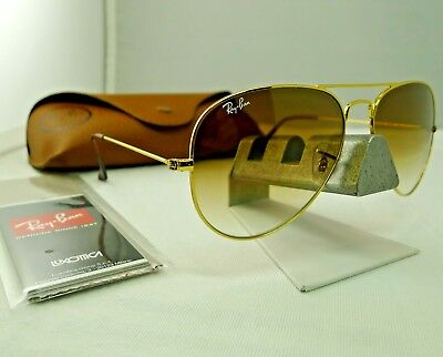 45529092c2 Ray-Ban Rb3025 001 51 Gold Frame Light Brown Gradient Aviator Sunglasses  58Mm