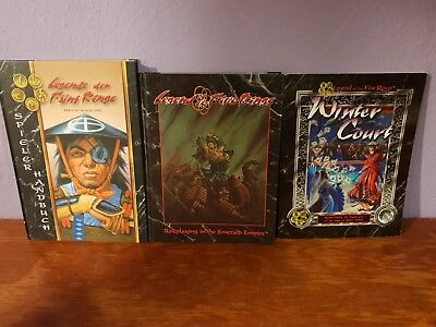 Legend of the Five Rings Rollenspiel Konvolut Hardcover Role Play Game