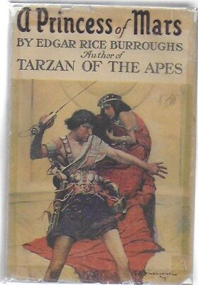 Edgar Rice Burroughs A PRINCESS OF MARS IN rare original G&D DJ