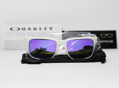 New Oakley 910205 Holbrook Matte White Violet Iridium Sunglasses