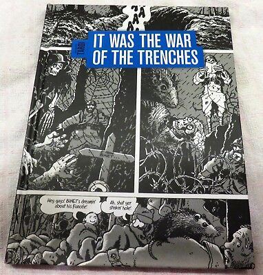 hardback graphic novel it was the war of the trenches ww1  jacques tardi