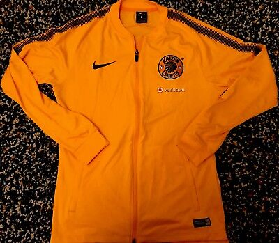 Kaizer Chiefs Nike Tracksuit Jacket Top - Yellow - Small - Dri-Fit