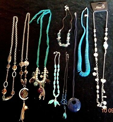 Collection of Mixed Jewellery Joblot Bundle 9 pieces