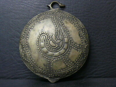 (eA1096) OLD ORIGINAL OTTOMAN  Hand FORGED SILVER ALLOY BUCKLE