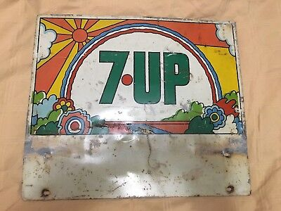 7up sign Peter Max style vintage