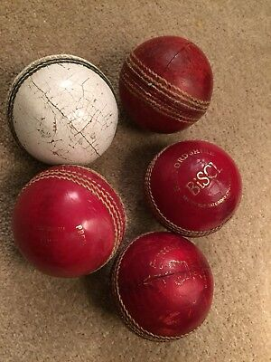 5 Used Cricket Balls Superb Condition For Spares Or Nets