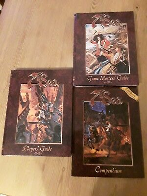 7th Sea (1st Ed.) - Bundle: Players´Guide (7001), Games Masters´ Guide (7002) ..