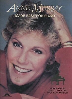 Anne Murray Made Easy for Piano Songbook - Columbia Pictures Publications 1983