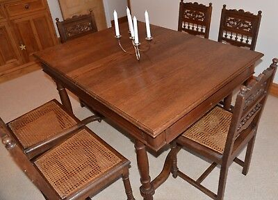 Henri ii French Oak dining table. Antique, vintage, shabby chic, arts and craft.