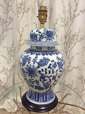 Chinese Blue And White Table Lamp Base 38 Cm 74cm With Shade