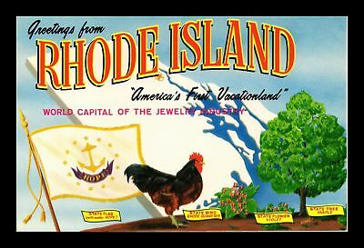 Dr Jim Stamps Us Greetings From Rhode Island Chrome Topical Postcard