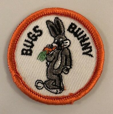 Bugs Bunny Eating a Carrot Embroidered Patch