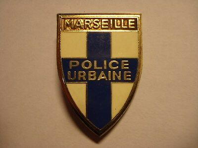 Obsolete Ancien Insigne Police Pu Marseille Bouches Rhone Provence Paca