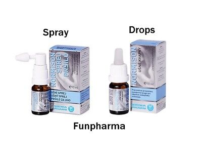 Normison Ear Drops or Spray 10 ml - 1st Class Registered Mail
