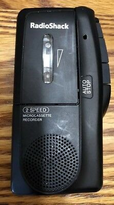 Radio Shack Microcassette Recorder 14-1148 2 Speed Tested Works