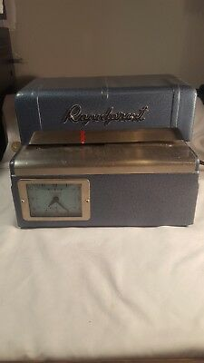 Rapidprint Var-Vintage-Time Stamping Machine-Works -In Preowned  Good Condition