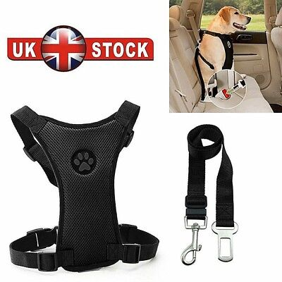 Air Mesh Puppy Pet Dog Car Harness Seat Belt Clip Lead Safety for Travel Dogs TM