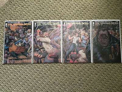Walking Dead #159 160 161 162 Arthur Adams Connecting Variant Covers NM