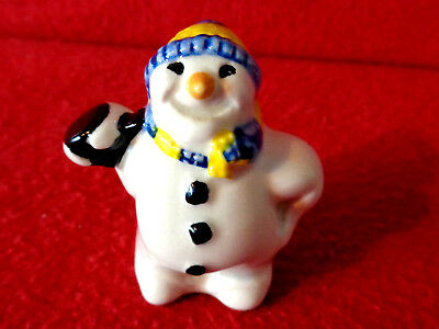 ** Tactile Delightful Rare Lovable Snowman Cardew Tiny Teapot * Superb Con *