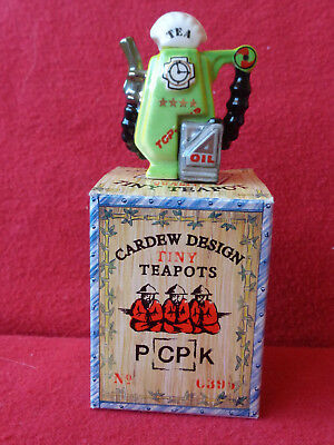 **exquisite Vibrant Cardew Tiny Petrol Pump Boxed Teapot ** ** In Brill Con **