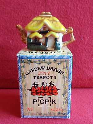 ** Tactile Delightful Rare Cottage Cardew Tiny Teapot ** Boxed Superb Condition