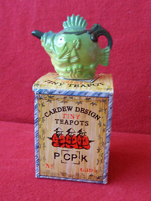 "**vibrant ""fishy For Your Dishy"" Cardew Fish Tiny Teapot Boxed **in Brill Con**"