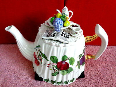 ** Stunning Rare Portmeirion Pomona Very Large Table Teapot ** Excellent Con **