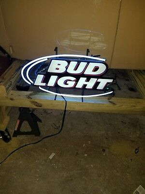 Bud Light Budweiser Neon SIGN BEER BAR LIGHT